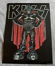 KISS Gene Simmons True Form Demon 1970s? Cape Eureka Painted Music Poster VGEX