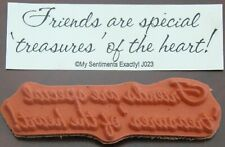 My Sentiments Exactly! Unmounted Rubber Stamp J023 Treasures of the Heart