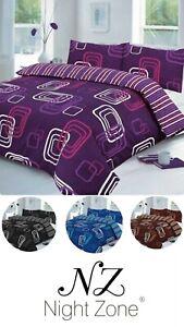Blake Geometric Duvet Cover Set with Pillowcase Reversible Stripes Bedding Set
