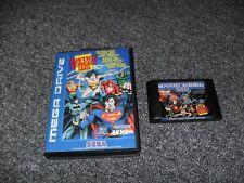 Original juego de Sega Mega Drive-Liga De La Justicia Task Force-en Caja-Probado