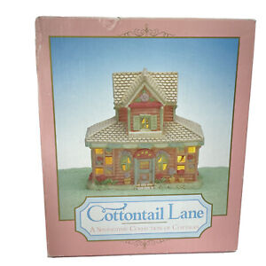 Midwest Cottontail Lane FLORAL FLOWER SHOP Lighted Porcelain House In Box