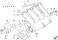 BMW Genuine 6x Engine Inlet Intake Manifold AGR Profile Gasket Set 11617790198