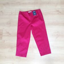 M&S Collection Bright Pink cropped capri trousers Sz 10 Short
