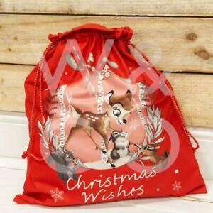 *New*  DISNEY CHRISTMAS BY WIDDOP AND CO VELVET GIFT SACK - BAMBI