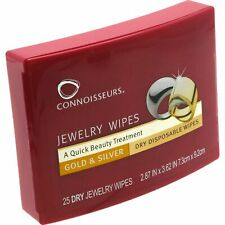 Connoisseurs Jewelry and Gold Clean and Polish 25 Disposable Dry Wipes