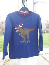 Boys Joules 7-8 Years Dinosaurs Christmas Xmas Long Sleeved Top