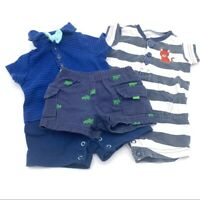 LOT of Two Newborn Nautical One Pieces & Shorts Infant Boy Size Newborn Summer