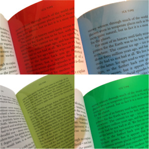 A5 Coloured Overlays - Visual Stress Dyslexia Reading Aid Sheets Red,Blue,Green