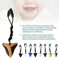 3Pcs Sensory Chew Silicone Necklace Pendant Autism ADHD UK Kid Teething