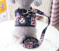 Cute Dog Cat Walking Harness Vest With Leash Small Pets Puppy Lead Leash Set