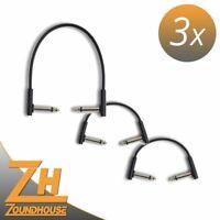 3 x Rockboard Flat Patch Cable 10+10+20 cm - Patchkabel-Set