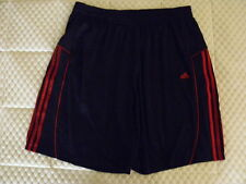 ADIDAS  BASKETBALL SHORTS Size XL, NAVY & RED PRE-OWNED .