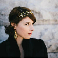 Women Metal Rhinestone Head Chain Jewelry Headband Head Piece Hair band Boho