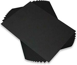 Pack of 10 A4  Black  Craft Card Sheets  220gsm