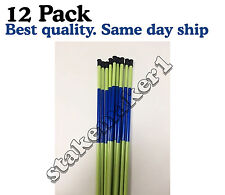 Driveway Markers Snow Stakes 12 Pack of 48 Inch Neon Green Reflective markers