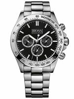 NEW HUGO BOSS 1512965 MENS STAINLESS STEEL CHRONOGRAPH WATCH - 2 YEARS WARRANTY