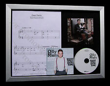 OLLY MURS Dear Darlin GALLERY QUALITY MUSIC CD FRAMED DISPLAY+FAST GLOBAL SHIP