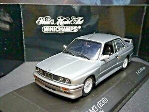 WOW MEGA RARE 1/43 MINICHAMPS BMW M3 E30 SILVER METALLIC 1987 NLA
