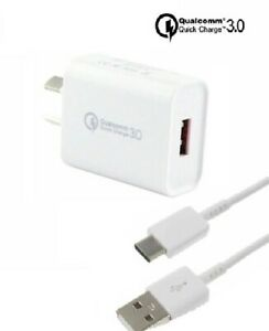 For Samsung Galaxy S21+ S21 Ultra S21 Adaptive Fast Charger Qualcomm USB Wall