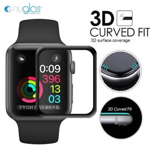 Nuglas 6D Curved Full Tempered Glass Screen Protector Apple Watch 6 5 4 3 2 SE