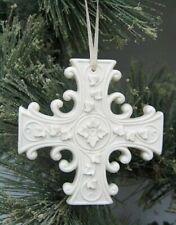 Margaret Furlong Porcelain Everlasting Hope Cross Ornament New in Box Free Ship