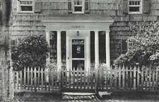 Southampton Long Island New York Old Hollyhocks Doorway Antique Postcard J70110