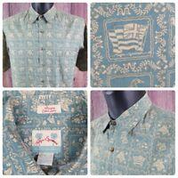 Reyn Spooner | Men's Large | S/S Hawaiian Aloha Camp Shirt | Regency Cotton Lawn