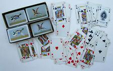 VINTAGE BRITISH PLAYING CARDS DOUBLE DECK w/ BOX by JOHN WADDINGTON Birds backs