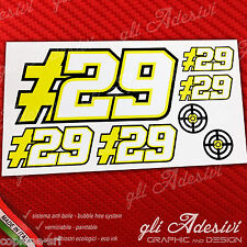 Set 7 Adesivi Stickers IANNONE 29 replica DUCATI