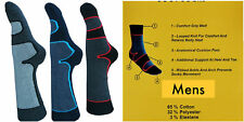3 PAIRS MENS HIKING SOCKS / WALKING SOCKS / BOOT SOCKS 65% COTTON (Hike Boot)