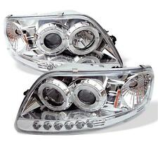 Projector Head Lights Lamps 1PC Ford F150 Expedition 1997-2003 HALO LED - Chrome
