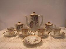 Antique Porcelain Coffee Or Tea Set Wisteria Pattern Japan