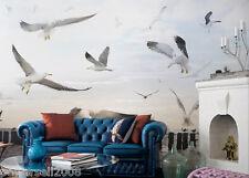 Modern Style Murals Tv Background Bedroom Printing Seagull Pattern Wallpaper