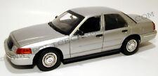 Motormax 1/18 Slicktop Silver Ford CVPI Police Car Detective Undercover 73532