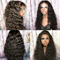 Women Brazilian Virgin Human Hair Wigs Water Wave Curly 360 Lace Front Full Wig