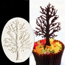 3D Christmas Tree Branch Silicone Mold Fondant Cake Decorating Mould Baking Tool