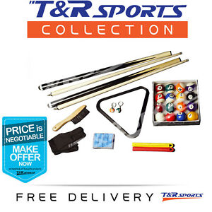 COMPACT BILLIARDS SNOOKER POOL TABLE ACCESSORIES KIT PACKAGE