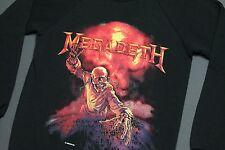 S * NOS vtg 80s 1987 MEGADETH sweat shirt * crewneck tour