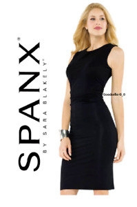 SPANX Star Power Draped Shaping Dress Bod-A-Bing BNWT Black RRP $138.00