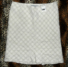 NEW NEXT IVORY/SILVER WOOL MIX SKIRT, ROCK'N'ROLL, ROCKABILLY, 1950's, RETRO