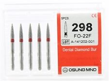 Dental Diamond Burs, Fine Grit Multi-Use, 5 Pcs/Pk [298FO-22F]