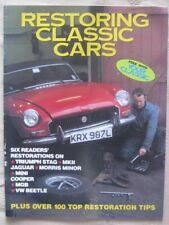 RESTORING CLASSIC CARS - MAY 1992 - MINI COOPER, TRIUMPH STAG