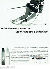PUBLICITE ADVERTISING 076  1966  les skis Dynastar  à Sallanches