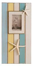 """COLOR BLOCK STARFISH BEACH COTTAGE PHOTO FRAME H 20"""" 1/4"""" W 10"""" HOLDS 4X6 PHOTO"""