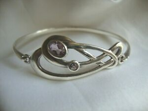 Kit Heath Sterling Silver 925 & Amethyst bracelet hallmarked