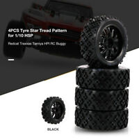 4PCS 1/10 RC On-road Tyre Star Tread Pattern For 1/10 Redcat Traxxas RC Buggy