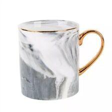 Gray Porcelain Mug Breakfast Morning Marble Grain Coffee Cup 12.5 fl oz