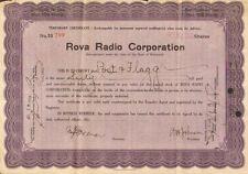 Rova Radio > 1925 Delaware old stock certificate
