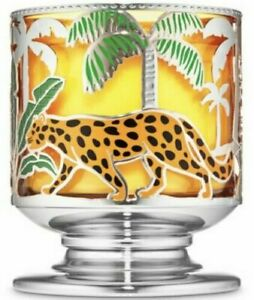 BATH & BODY WORKS JUNGLE CRITTERS PEDESTAL 3 WICK CANDLE HOLDER - NEW