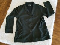 Sympli The Best Canada Women's Blazer Jacket Cardigan Shirt Dark Green Size 10